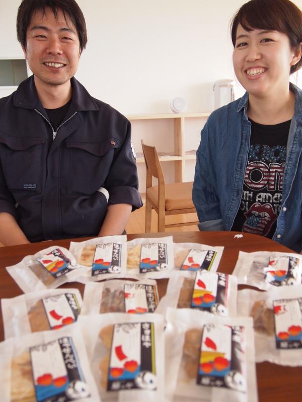 阿部さんと久保田さん。女川フューチャーセンターにて